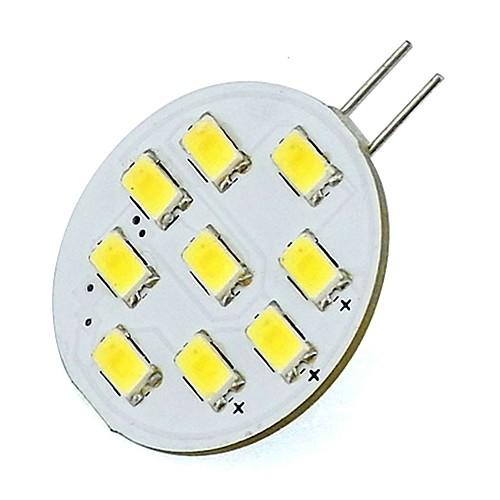 2W 420lm G4 Двухштырьковые LED лампы Трубка 9 Светодиодные бусины SMD 5730 Холодный белый 12V