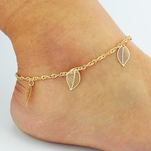 Розы / В форме листа / Бабочка Ножной браслет / Цепочка на ногу / Цепи - Жен. Золотой Классический / Бикини / Двойной слой Животный принт в форме листа двухслойные зонты ножной