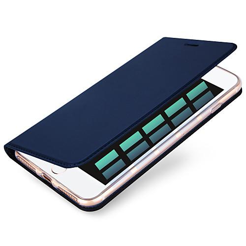 Кейс для Назначение Apple iPhone X iPhone 8 iPhone 6 iPhone 7 Plus iPhone 7 Бумажник для карт Чехол Сплошной цвет Твердый Кожа PU для твердый защитный чехол для iphone 6 6s 6plus 7 7plus iphone x