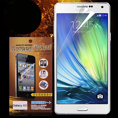 Защитная плёнка для экрана Samsung Galaxy для A3 PET Защитная пленка для экрана HD чехол для для мобильных телефонов 2015 samsung a3 for samsung galaxy a3