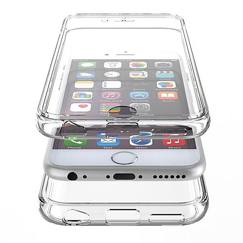 Для Кейс для iPhone 6 / Кейс для iPhone 6 Plus Защита от удара / Прозрачный Кейс для Чехол Кейс для Один цвет Твердый PCiPhone 6s Plus/6 <br>
