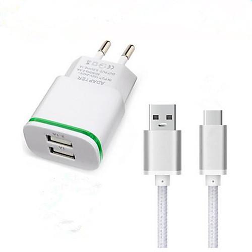 Зарядное устройство для дома Зарядное устройство USB Евро стандарт Быстрая зарядка / Зарядное устройство и аксессуары 2 USB порта 3.1 A зарядное устройство energizer hightech 2 usb 2 4a euro 220v кабель usb