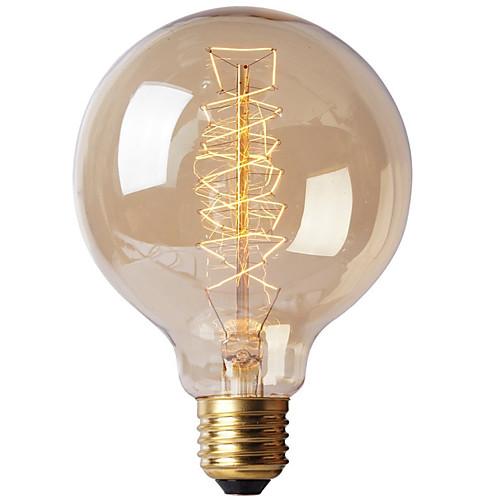 Ecolight™ 1шт 40W E27 E26 / E27 G80 Тёплый белый 2300k Лампа накаливания Vintage Эдисон лампочка 220-240V