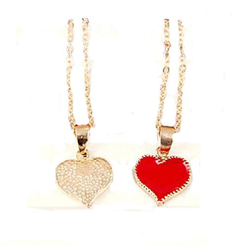 Жен. Ожерелья с подвесками - Сердце, Любовь Мода Белый, Черный, Красный Ожерелье Назначение Для вечеринок жен ожерелья с подвесками мода этнический перо кофейный красный синий 70cm ожерелье назначение праздники для улицы
