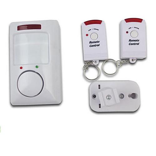 Беспроводной инфракрасный движения обнаружения сигнализация с двумя пультами дистанционного управления для домашней безопасности