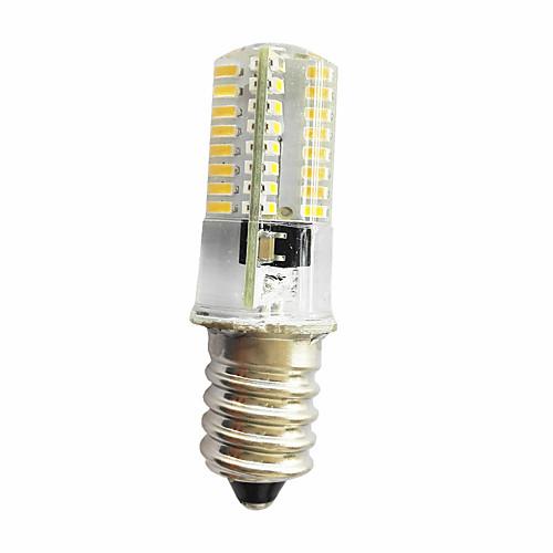 280-300lm E14 E11 E12 Декоративное освещение T 64 Светодиодные бусины SMD 3014 Диммируемая Тёплый белый Холодный белый 220V 85-265V