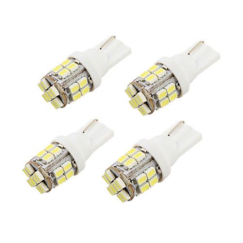 цена на youoklight 4шт T10 2W 200LM 24-smd1206 6000k белый привело автомобиля лампочки (DC12V)