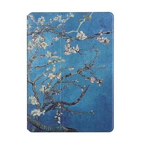 Кейс для Назначение Apple iPad Air 2 iPad Air Бумажник для карт Оригами Чехол Цветы Твердый Кожа PU для iPad Air iPad Air 2 Apple