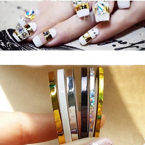 5 pcs Украшения для ногтей Панк / Мода Повседневные Дизайн ногтей / ПВХ