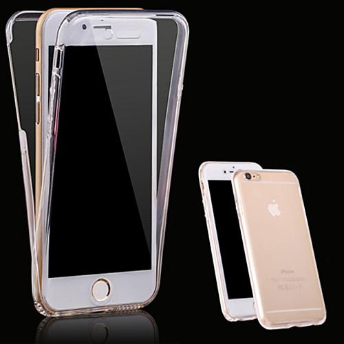 Кейс для Назначение Apple iPhone X iPhone 8 Кейс для iPhone 5 iPhone 6 iPhone 6 Plus iPhone 7 Plus iPhone 7 Прозрачный Чехол Сплошной цвет чехол для для мобильных телефонов iphone 6 apple iphone 6 5 5 for iphone 6 6plus