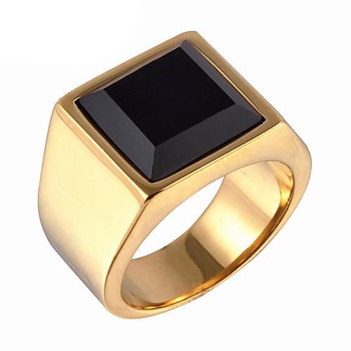 Купить со скидкой Муж. Заявление Кольцо Кольцо с печаткой Титановая сталь Винтаж Мода Модные кольца Бижутерия Золотой