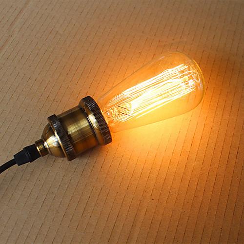 1шт 60 W E26 / E26 / E27 / E27 ST58 Тёплый белый Лампа накаливания Vintage Эдисон лампочка 220-240 V / 110-130 V