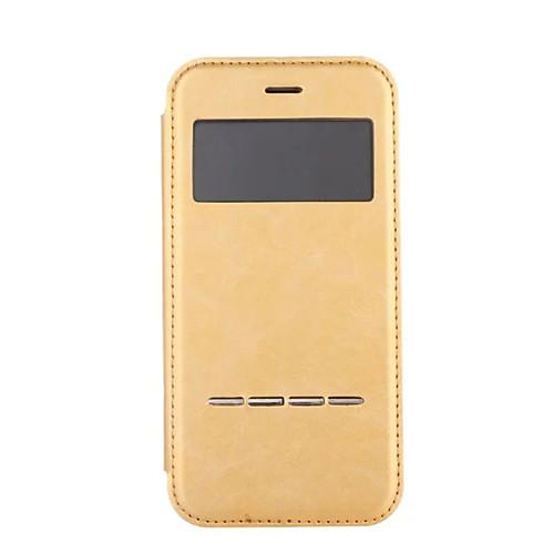 Кейс для Назначение Apple iPhone 8 iPhone 8 Plus iPhone 6 iPhone 7 Plus iPhone 7 Защита от пыли с окошком Покрытие Флип Чехол Сплошной антигравитационный чехол для iphone 6 plus 6s plus черный
