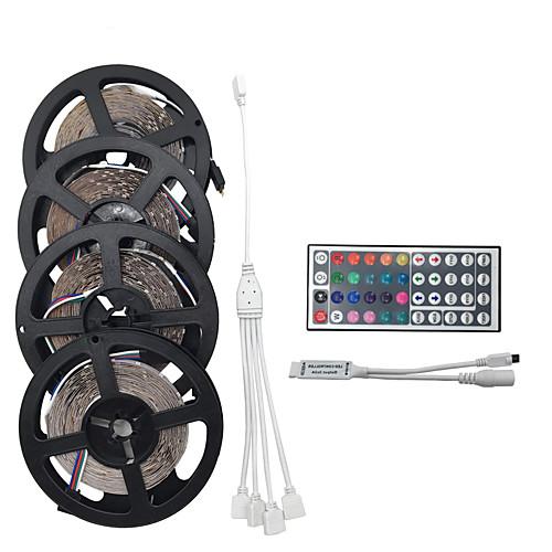 20 м 4 5 м 1200smd 3528 RGB 44 клавиши ик-пульт дистанционного управления светодиодные полосы света устанавливает ac100-240v фото