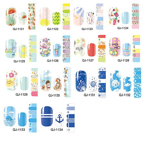 1pcs Наклейка для переноса воды Шаблон шаблона для ногтей Повседневные Мода Высокое качество