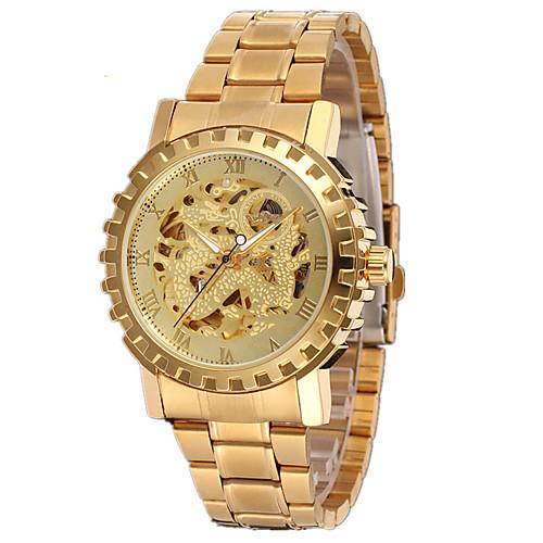 Муж. Спортивные часы Модные часы Нарядные часы С автоподзаводом Разноцветный 30 m Аналоговый Кулоны На каждый день - Золотой Серебряный