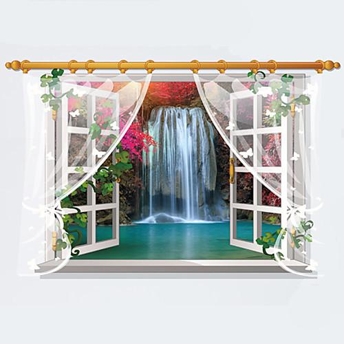 Декоративные наклейки на стены - 3D наклейки Пейзаж / Мода / 3D Гостиная / Спальня / Столовая наклейки 3 3d