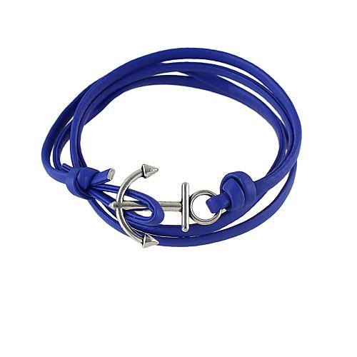 Жен. Wrap Браслеты - Кожа Друзья Браслеты Черный / Синий Назначение Подарок бижутерия в подарок