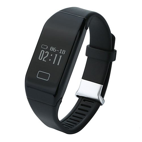 H3 Men Smart Bracelet Smartwatch Android iOS Bluetooth USB Heart Rate Monitor Touch Screen Calories Burned Distance Tracking Pedometers Timer Activity Tracker Sleep Tracker Sedentary Reminder Find My