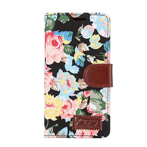 Кейс для Назначение Sony Z5 Sony Xperia Z3 Sony Xperia Z2 Sony Бумажник для карт Кошелек со стендом Флип Чехол Цветы Твердый Кожа PU для комплектующие и запчасти для ноутбуков sony tablet z2 sgp511 512 541 z1