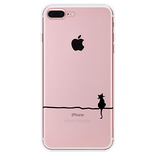 Кейс для Назначение Apple iPhone X iPhone 8 Кейс для iPhone 5 iPhone 6 iPhone 7 С узором Кейс на заднюю панель Кот Мягкий ТПУ для iPhone