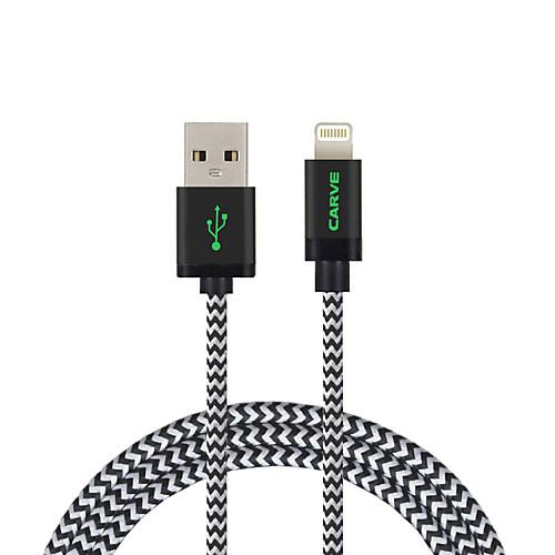 Подсветка Кабель / Кабель для зарядки / Для передачи данных Плетение Кабель iPad / Apple / iPhone для 200 cm Назначение Нейлон кабель