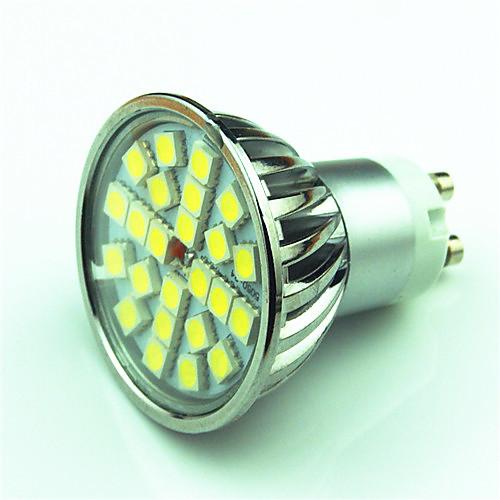 4W 350lm GU10 Точечное LED освещение MR16 24 Светодиодные бусины SMD 5050 Диммируемая Тёплый белый Холодный белый 220V 85-265V цена