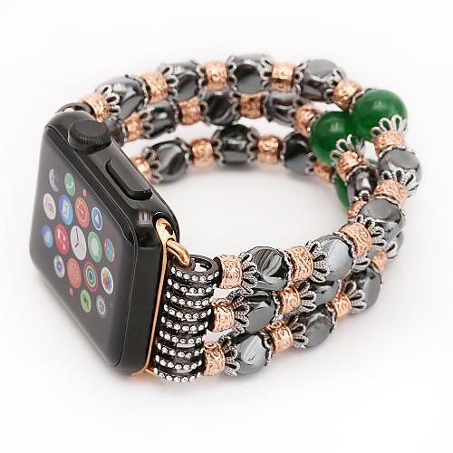 Jade агат жемчуг бисер ремешок ручной работы ювелирные изделия для яблока часы iwatch 38 мм 42 мм