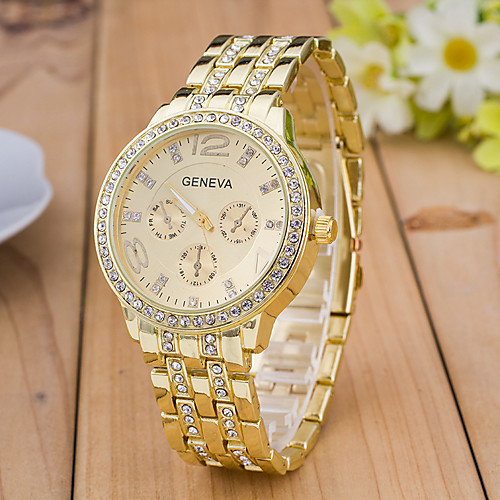 Men's Sport Watch Wrist Watch Simulated Diamond Watch Quartz Rose Gold Plated Multi-Colored Designers Large Dial Swiss Analog Charm Fashion Dress Watch - Gold Silver Rose Gold One Year Battery Life