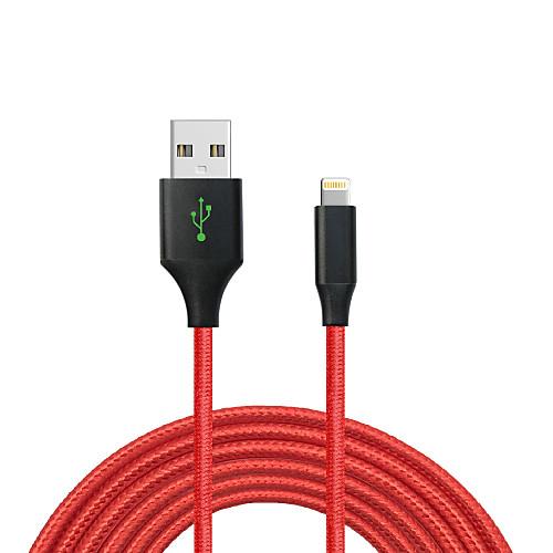 USB 2.0 Нормальная / Плетение Кабель iPad / Apple / iPhone для 200 cm Назначение Алюминий / Нейлон / Металл фото