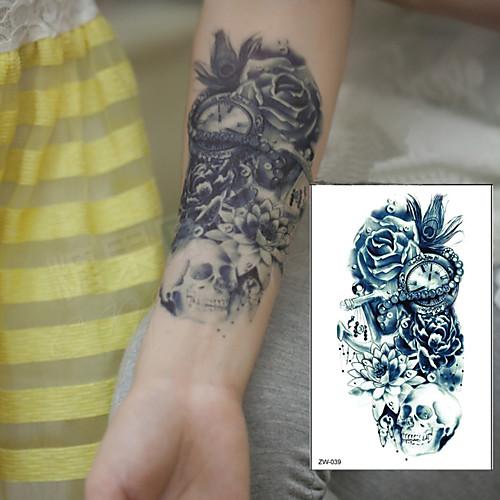 1 pcs Временные татуировки Водонепроницаемый / 3D плечо / Грудь Бумага Временные тату