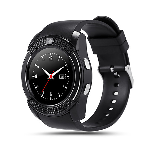 V8 Men Smartwatch Android Bluetooth Touch Screen Hands-Free Calls Camera Distance Tracking Pedometers Pedometer Remote Control Fitness Tracker Activity Tracker Sleep Tracker / 0.3 MP / Find My Device