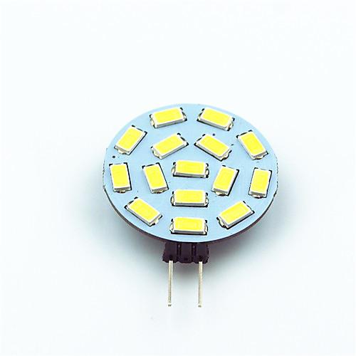 1шт 1W 200lm G4 Двухштырьковые LED лампы T 15 Светодиодные бусины SMD 5730 Декоративная Тёплый белый Холодный белый 12V