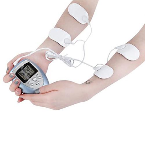 4 подушки полное тело массажеры для похудения электрический тонкий пульс мышцы расслабиться сжигатель жира electric head массажеры мозг массаж акупунктуры серый моды расслабиться
