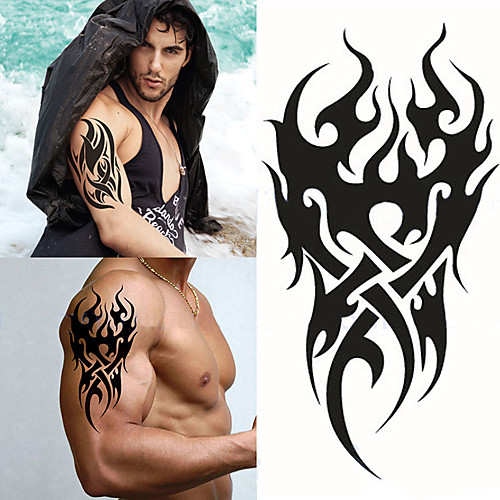 Waterproof / 3-D / Стикер татуировки рука Временные татуировки 1 pcs Тату с тотемом Искусство тела временные татуировки мнетату золотое временное тату сова