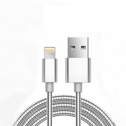 USB 2.0 Адаптер USB-кабеля Нормальная Плетение Кабель Назначение iPad Apple iPhone 98 cm Алюминий Металл