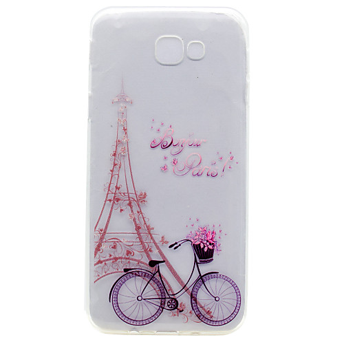 Case For Samsung Galaxy A5(2017) / A3(2017) Embossed / Pattern Back Cover Eiffel Tower Soft TPU for A3(2017) / A5(2017) / A7(2017)