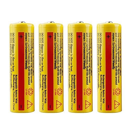 Купить со скидкой Литий-ионная 18650 батарея 5000 mAh 4шт Перезаряжаемый Экстренная ситуация для Рабочий Фонарь Велоси