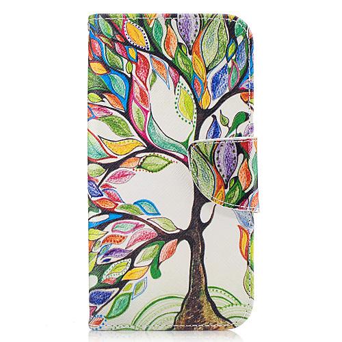 Кейс для Назначение SSamsung Galaxy A5(2017) / A3(2017) Кошелек / Бумажник для карт / со стендом Чехол дерево Твердый Кожа PU для A3 (2017) / A5 (2017) / A5(2016)
