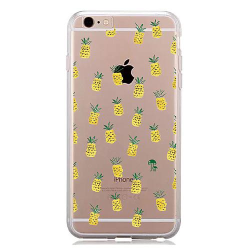 Кейс для Назначение Apple iPhone 7 Plus iPhone 7 С узором Кейс на заднюю панель Фрукты Мягкий ТПУ для iPhone 7 Plus iPhone 7 iPhone 6s