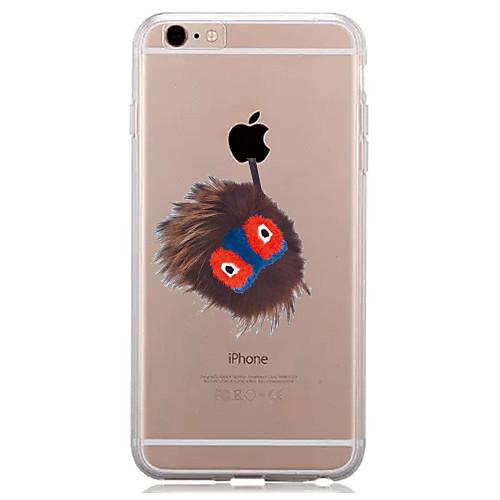 Кейс для Назначение Apple iPhone 7 Plus iPhone 7 Прозрачный С узором Кейс на заднюю панель Композиция с логотипом Apple Мягкий ТПУ для