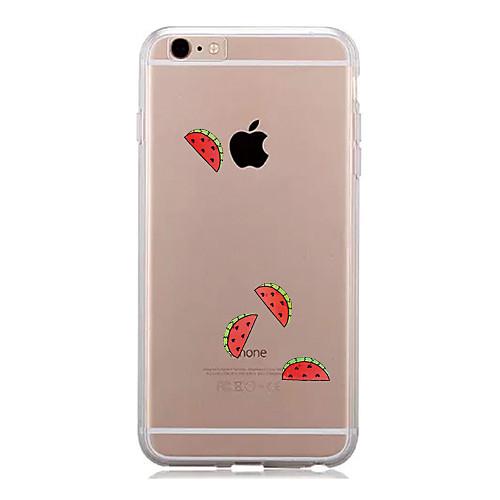 Кейс для Назначение Apple iPhone 7 Plus iPhone 7 Прозрачный С узором Кейс на заднюю панель Фрукты Мягкий ТПУ для iPhone 7 Plus iPhone 7