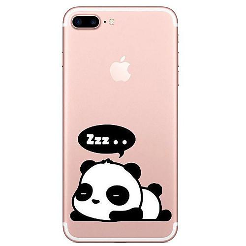 Кейс для Назначение Apple iPhone X iPhone 8 Прозрачный С узором Кейс на заднюю панель Панда Мультипликация Мягкий ТПУ для iPhone X iPhone детская футболка классическая унисекс printio король панда