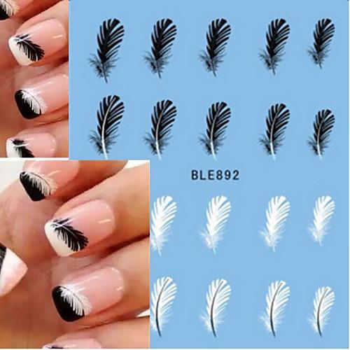 10pcs/set Наклейки для ногтей Наклейка для переноса воды / Наклейка для ногтей Наклейки / Дизайн ногтей