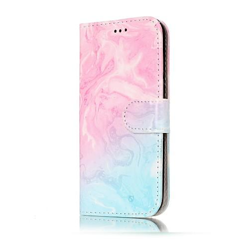 Кейс для Назначение SSamsung Galaxy A5(2017) / A3(2017) Кошелек / Бумажник для карт / со стендом Чехол Мрамор Твердый Кожа PU для A3 (2017) / A5 (2017) / A5(2016)