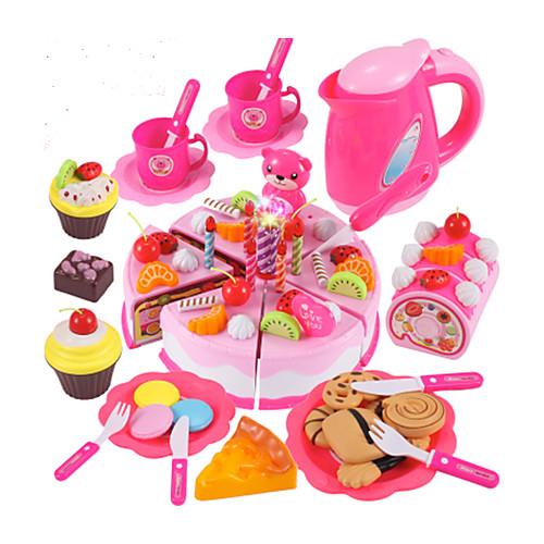 Игрушка кухонные наборы Игрушечная еда Ролевые игры Формы для нарезки печенья и тортов Торты ПВХ Мальчики Детские Подарок ролевые игры dolu игрушечная стиральная машинка