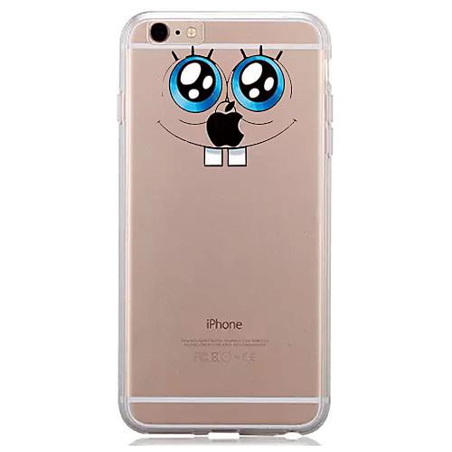 Кейс для Назначение Apple iPhone 7 Plus iPhone 7 Прозрачный С узором Кейс на заднюю панель Композиция с логотипом Apple Мягкий ТПУ для чехол для для мобильных телефонов cy apple iphone 4 4 g 4s 5 5 g 5s 5c 6 6 for 4 4s 5 5s 5c 6 or 6plus