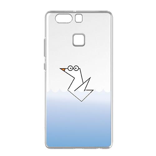 Кейс для Назначение Huawei P9 Huawei P9 Lite Huawei P8 Huawei Huawei P8 Lite Прозрачный С узором Кейс на заднюю панель Животное Мягкий ТПУ
