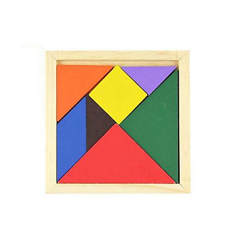 Китайская геометрическая головоломка Пазлы Деревянные пазлы Обучающая игрушка Квадратный Своими руками Классика Подарок