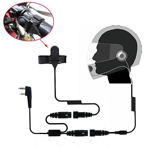 Мотоцикл full face шлем гарнитура наушник для двухстороннего радио Walkie Talkie 365 baofeng kenwood wanhua